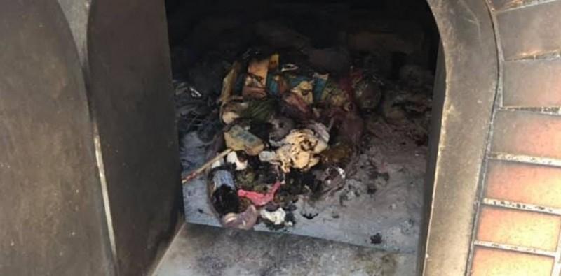 民眾發現,有黑心人士利用金爐充當焚化爐,在裡面燃燒垃圾。(圖擷取自爆廢公社)