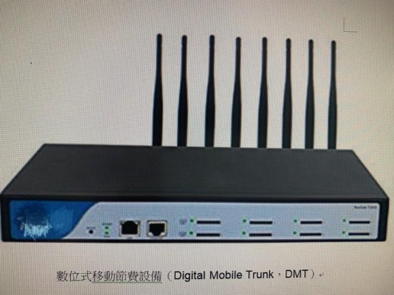 網路普及,詐騙集團從中國引進「新興數位式移動節費設備」(Digital Mobile Trunk,簡稱DMT),用來層層轉接,躲避警方追查。(記者林嘉東翻攝)