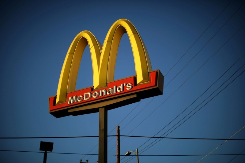 知名連鎖速食店「麥當勞」加入素肉漢堡戰場。(路透)
