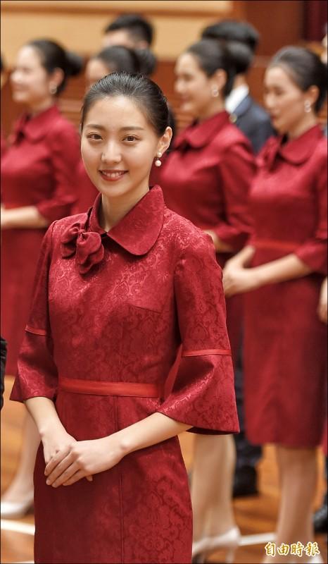 國慶親善大使,趙碧祺擔任隊長。(記者劉信德攝)