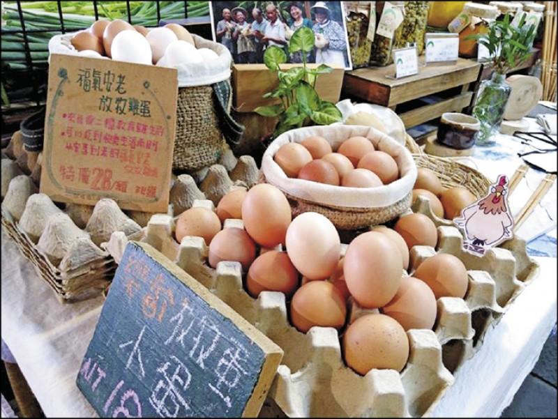 食二糧的雞蛋大多落在1顆18~28元之間,會依照蛋的大小決定,目前在台南市崇德民有市場有實體攤位販售。(圖片提供/食二糧)