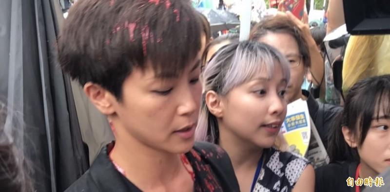 何韻詩認為,在台灣這個擁有真正自由民主的地方,竟然發生紅色恐怖。(記者彭琬馨攝)