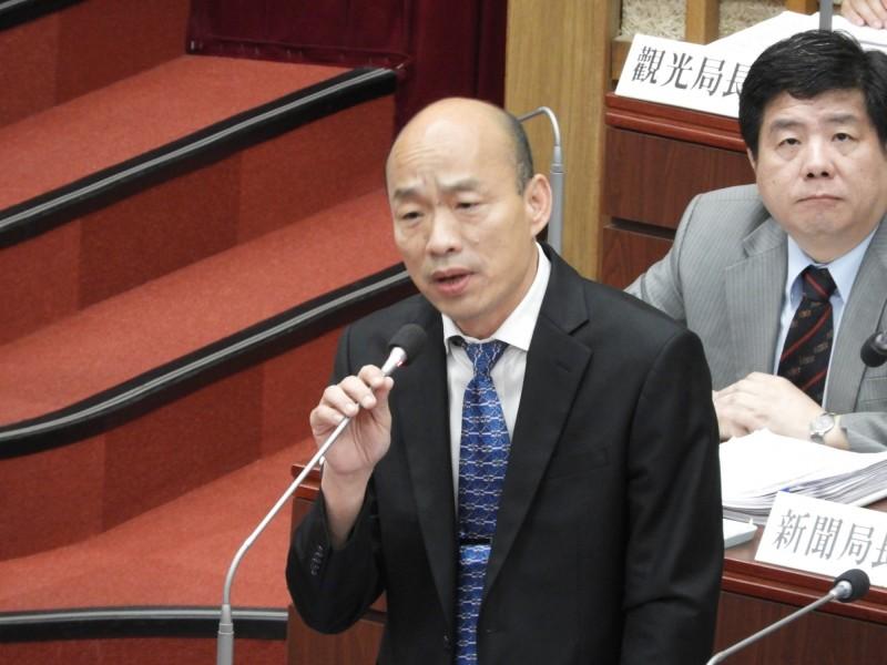 高雄市長韓國瑜稱要將高雄打造為電競首都。(資料照)