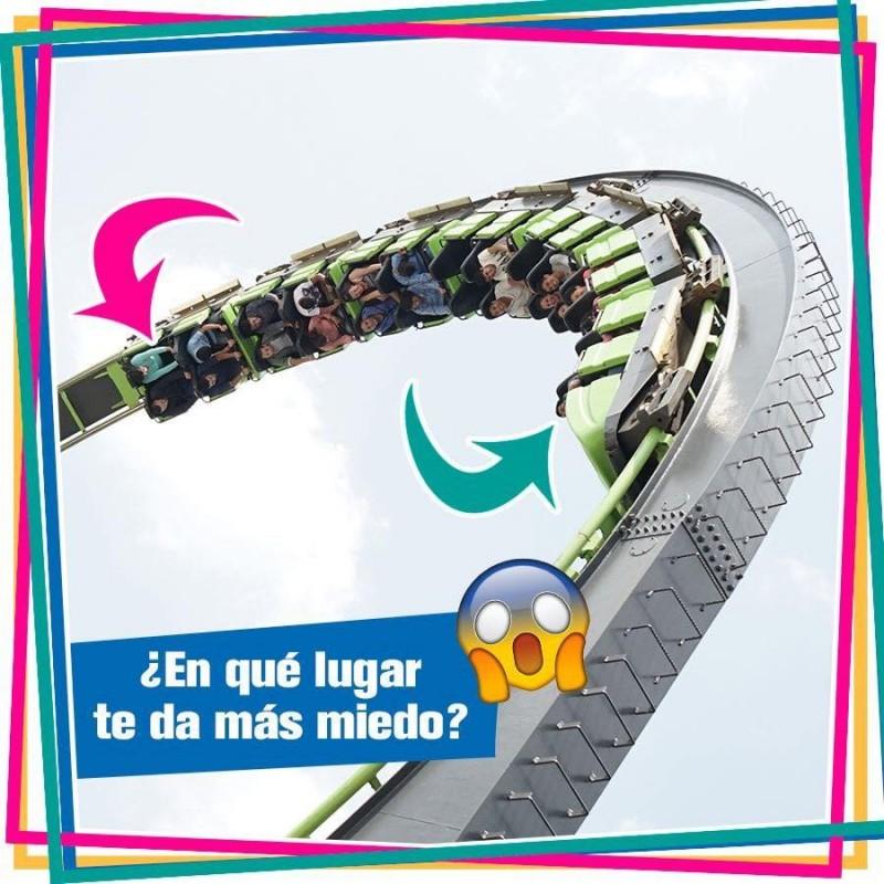 墨西哥首都墨西哥城La Feria Chapultepec遊樂園,驚傳雲霄飛車脫軌意外,造成2名遊客摔死。該樂園遊樂設施示意圖。(圖擷自La feria de Chapultepec Mágico臉書)
