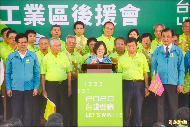 蔡:勿挑戰台灣民主法治(記者廖耀東攝)
