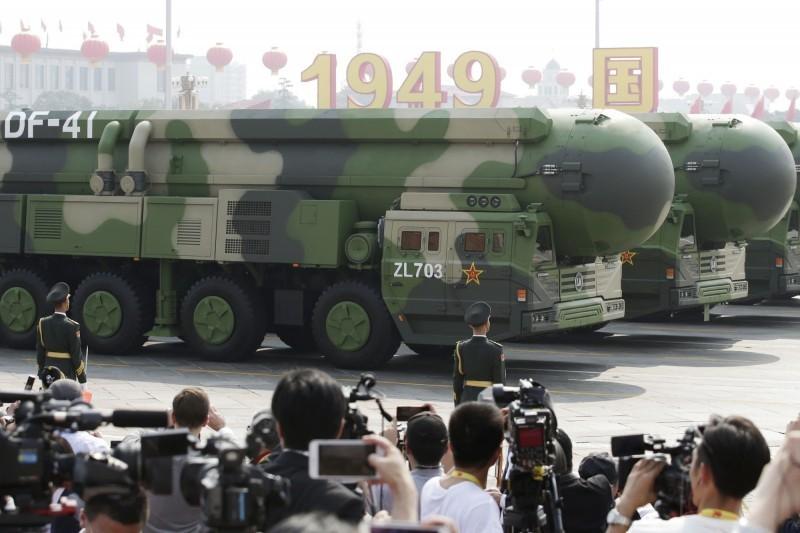 東風41型飛彈在閱兵中首度亮相。(路透)