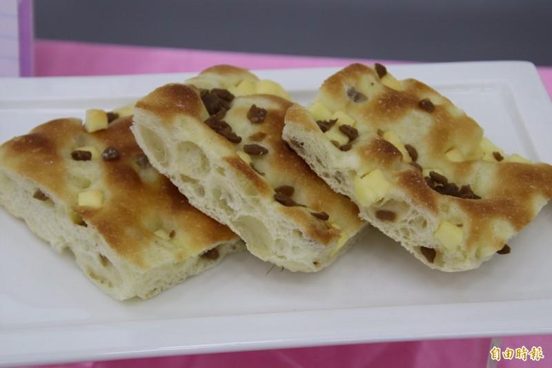 菜餔乳酪佛卡夏。(記者黃美珠攝)