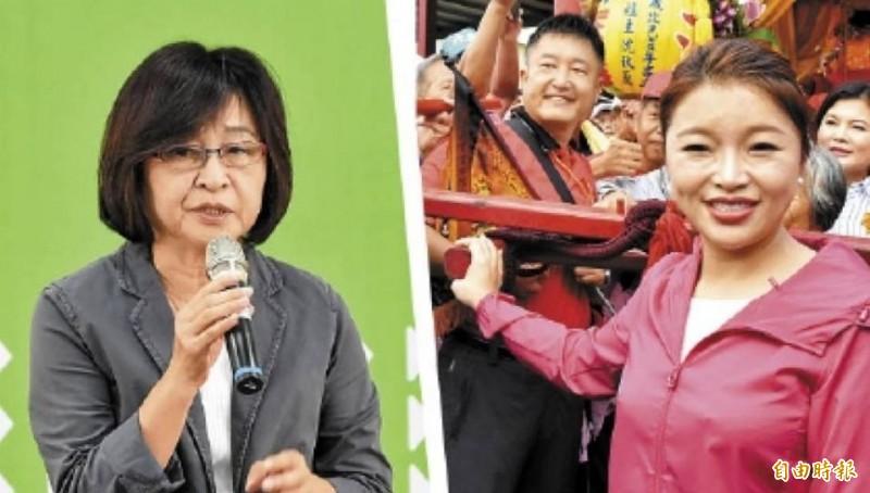 雲林海線立委選舉戰況火熱,立委蘇治芬(左)今晚在電台嗆聲張嘉郡(右)。(資料照,本報合成)
