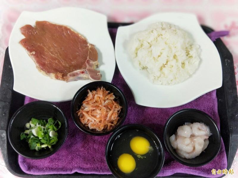 李文豪料理時,對每一份食材搭配的份量都精準要求。(記者何玉華攝)