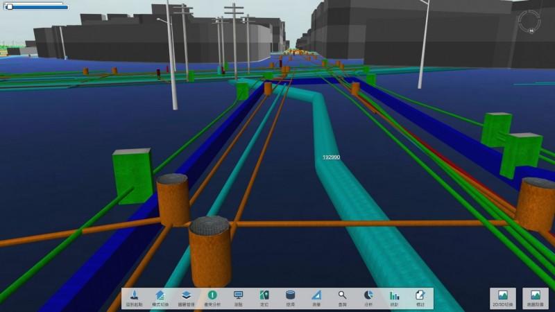 3D管線圖資系統。(記者黃鐘山翻攝)