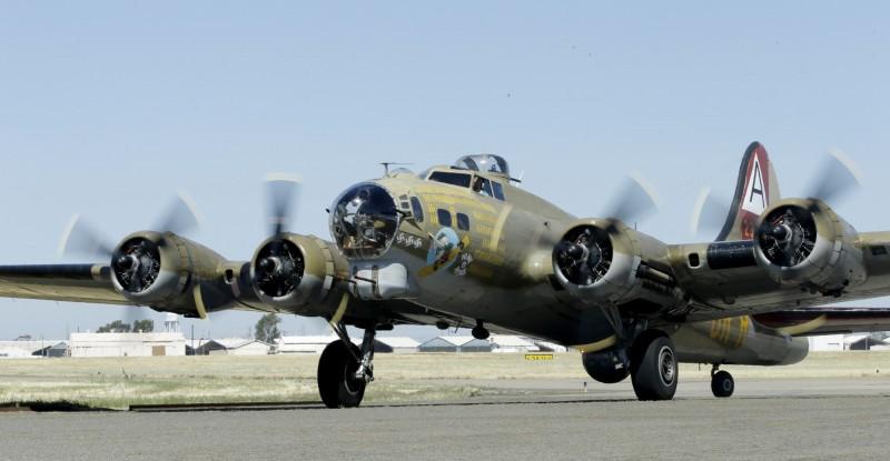B-17轟炸機是美國1930年代出廠,二戰時期力主戰機之一。(美聯)