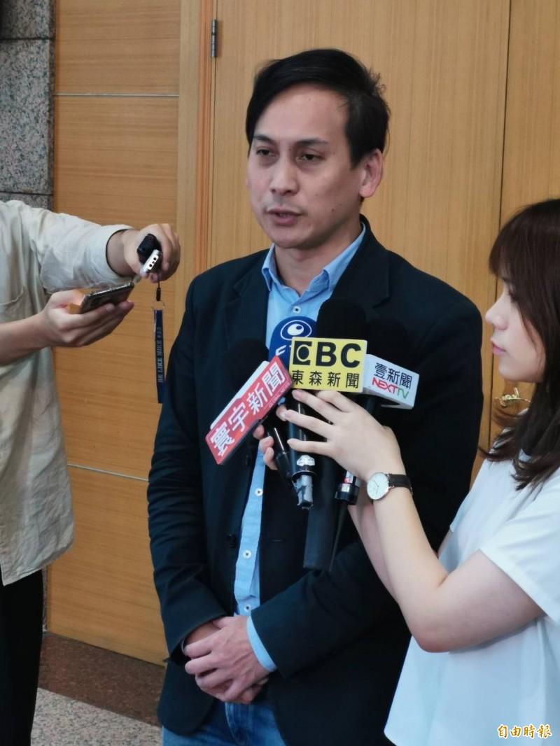 國民黨總統參選人韓國瑜競選辦公室發言人葉元之。(記者施曉光攝)