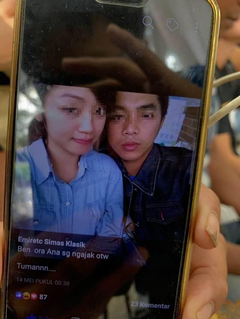 Mohamad Domiri(右)與未婚妻的照片。(記者林敬倫翻攝)