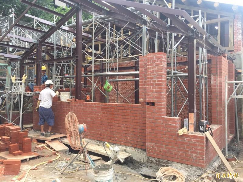台北市大安區金華街上的「原台北刑務所官舍」,將在明年7月修復完成。(記者楊心慧攝)