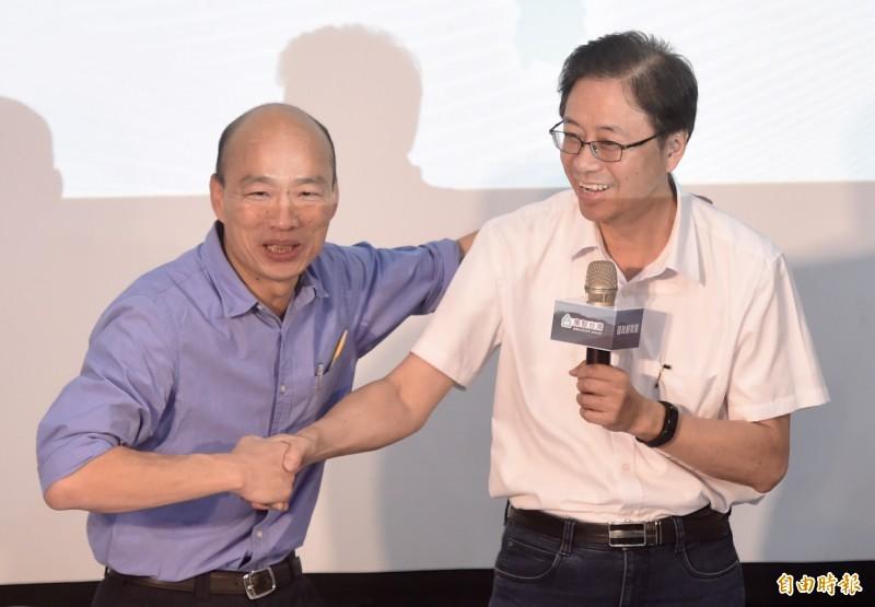 國民黨台中市議員賴朝國透露,藍營黨內討論度最高的組合其實還是「韓張配」。(資料照)