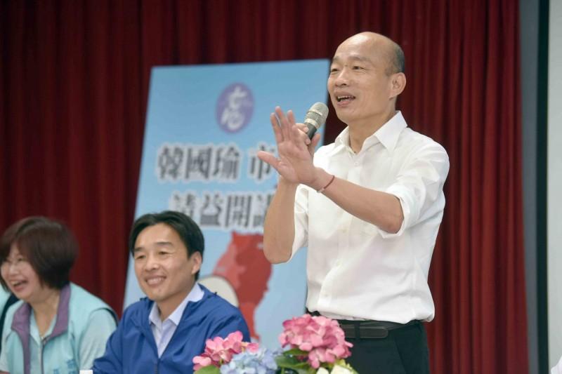 陳致中爆料指韓國瑜(見圖)將於10月14或15日起,請假拚總統大選。 (記者葛祐豪翻攝)