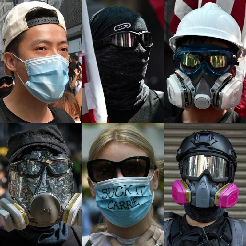 香港實施禁蒙面法仍無法制止「動亂」,香港行政會議成員葉國謙表示,不排除未來會「禁網」限制通訊。(法新社)