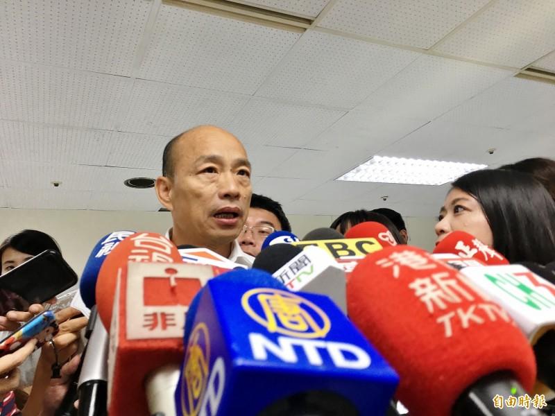 屢屢傳出高雄市長韓國瑜計畫請假拚總統的消息,台灣基進高雄黨部今向韓喊話,現在辭職、「韓」假就開始了,不要浪費高雄的時間。(記者許麗娟攝)