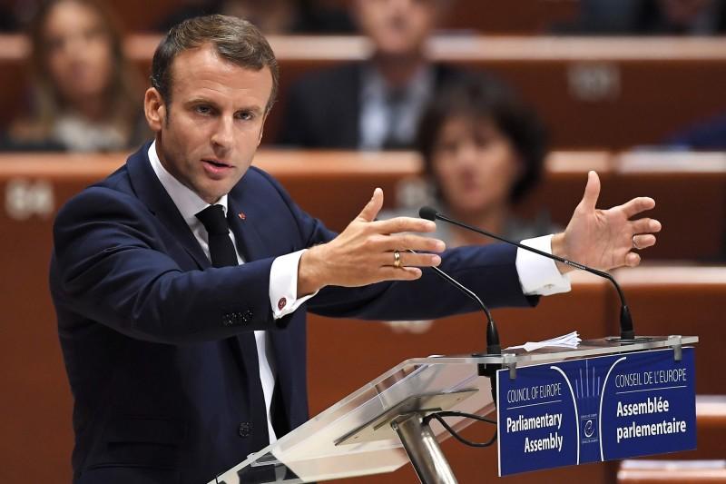 法國總統馬克宏表示,歐盟將在本週末對英國的脫歐協議做出決定。(法新社)