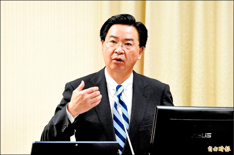 吳釗燮昨出席立法院外交及國防委員會。(記者叢昌瑾攝)