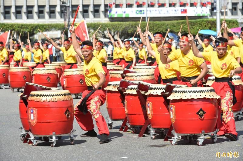 中華民國中樞暨各界慶祝108年國慶大會8日下午舉行最後一場預演。(記者塗建榮攝)