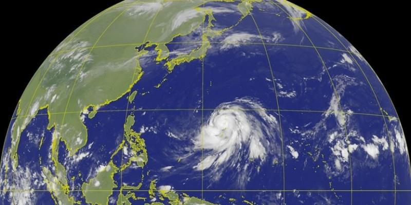 哈吉貝颱風已成為強烈颱風,專家發現,強度有持續增強的態勢。(圖擷取自中央氣象局)