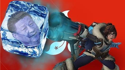 《鬥陣特攻》的英雄人物「小美」成為香港反抗勢力象徵。(翻攝自推特)