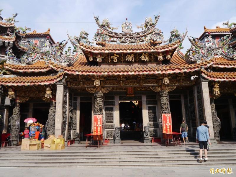 鎮瀾宮是中部知名大廟,香火鼎盛。 (資料照)