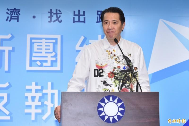 國民黨發言人歐陽龍說,吳敦義只是「提議」、「建議」執政縣市在雙十節應舉辦升旗典禮,不是「動員」與「命令」。(資料照)