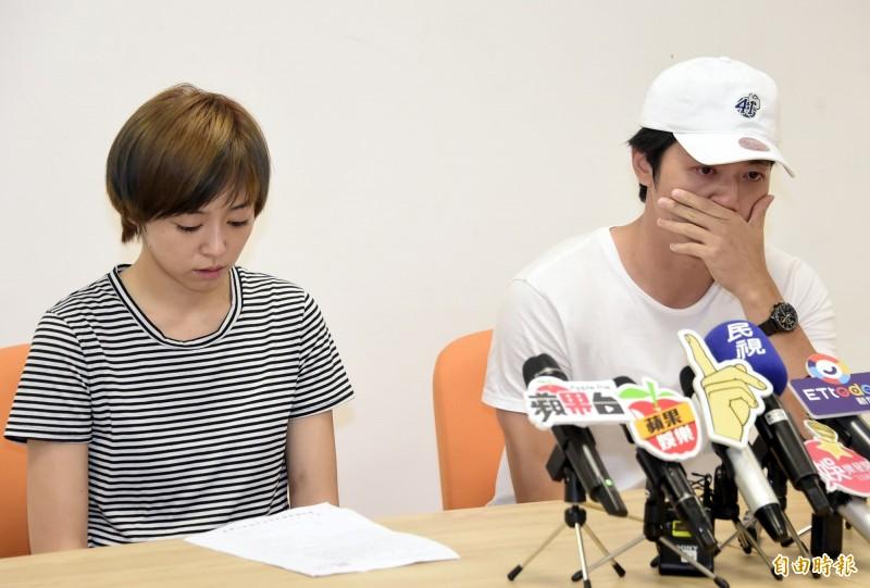 馬俊麟在記者會上落淚,承認「沒有控制好感情」,律師林智群表示,聽完這句話就知道太太(梁敏婷)得分了。(資料照)