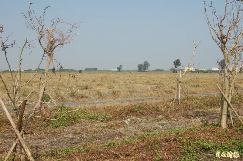 二林精密機械產業園區基地位置在台糖萬興農場,南側臨連中科二林園區。(資料照)
