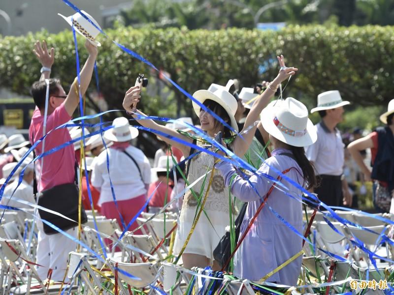 中華民國中樞暨各界慶祝108年國慶大會。(記者塗建榮攝)