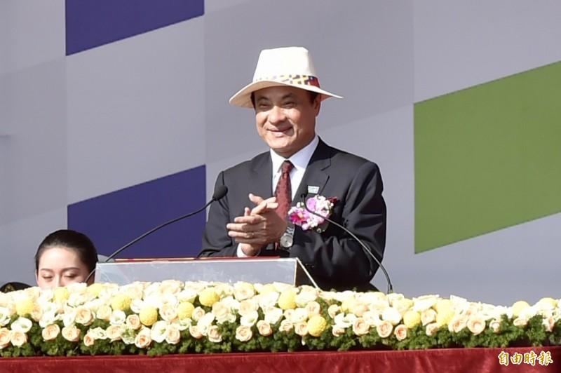 中華民國中樞暨各界慶祝108年國慶立法院長蘇嘉全主持大會。(記者塗建榮攝)