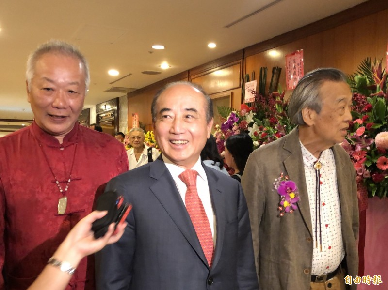 前立法院長王金平下午出席活動被問到「宋王配」時回應,這是假設性問題。(記者陳昀攝)