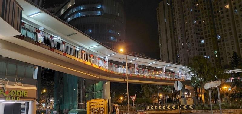 香港柴灣天橋。(圖擷取自TG)