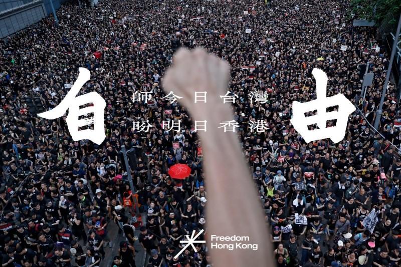 《Freedom HONG KONG》團體製作精美的宣傳網頁,提醒全世界中國是如何壓迫香港。(圖翻攝自臉書)