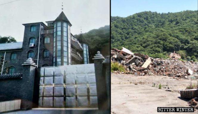中國教堂頻遭強拆。(擷取自《寒冬》)