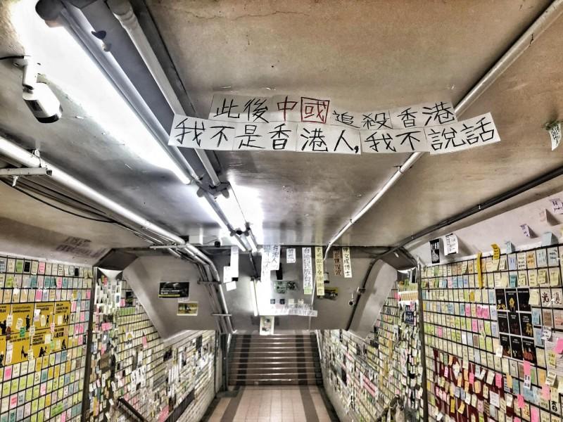 貼出訊息的人士認為,台灣在香港有難時應給予聲援。(圖擷取自行走的故事詩2.0/yanwu)