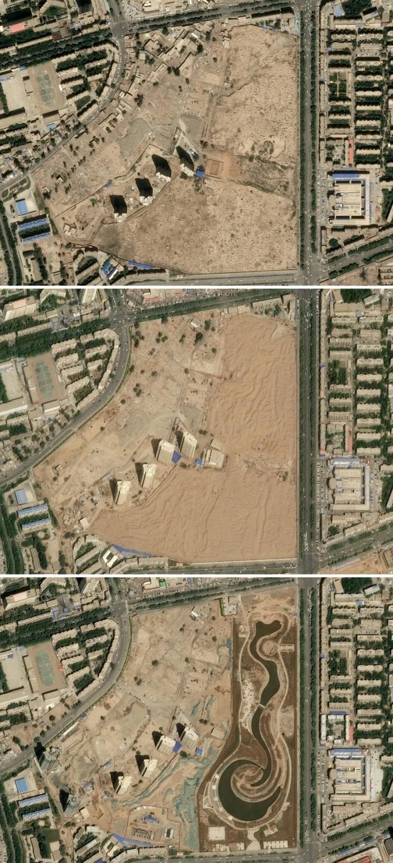 新疆當局對維族墓園實施大規模挖墳搗墓的迫害行為。(法新社)