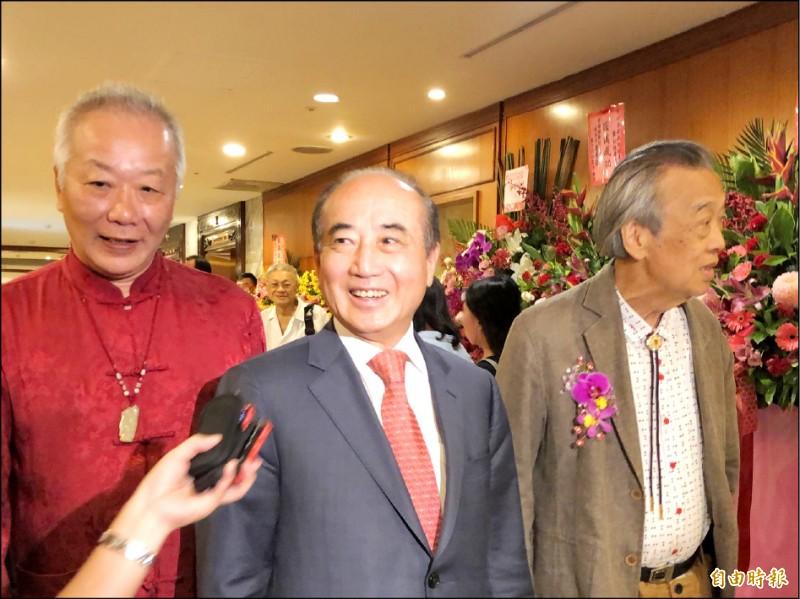 前立法院長王金平昨下午出席活動被問到「宋王配」時回應,這是假設性問題。(記者陳昀攝)