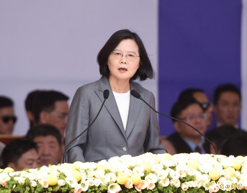 總統蔡英文昨(10)發表國慶演說。(資料照)