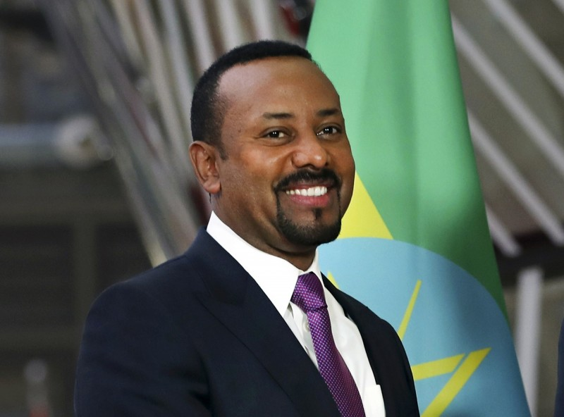 衣索比亞總理比·艾哈邁德·阿里(Abiy Ahmed)獲得2019年諾貝爾和平獎。(美聯社)
