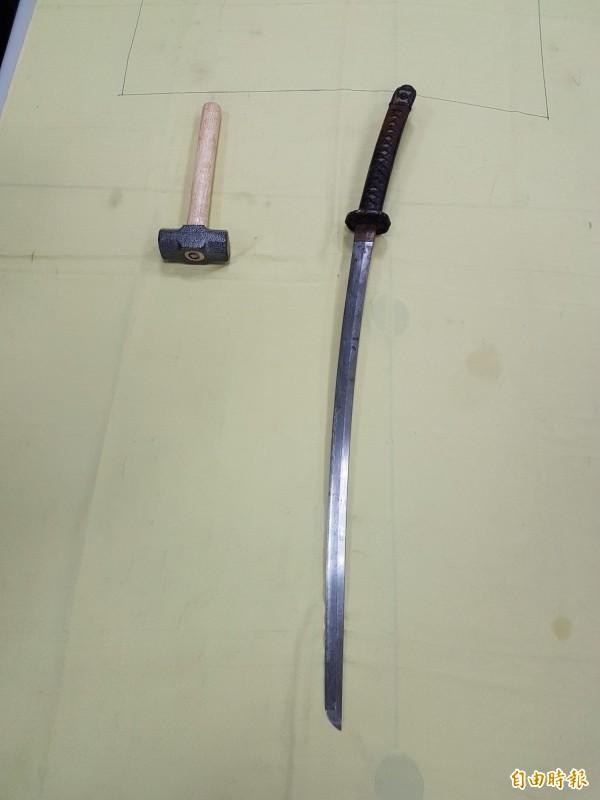 一把武士刀放在家中20年 男子判拘40日