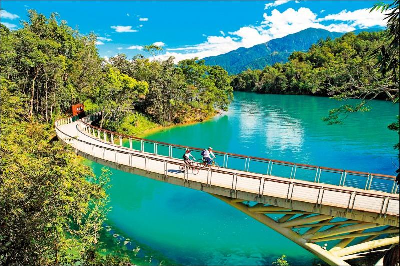 首次獲選「全球百大綠色旅遊目的地」的日月潭國家風景區。(日月潭國家風景區管理處提供)
