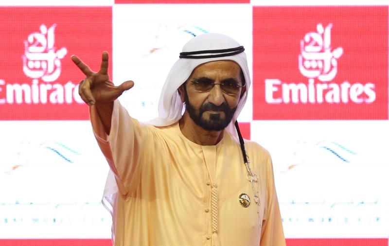 杜拜酋長謝赫(Sheikh Mohammed Bin Rashid al-Maktoum)花了435萬6000美元(約新台幣1.3億元)只為了買一匹駿馬。(歐新社)