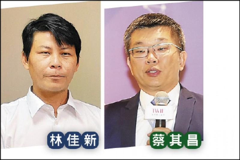 台中市第一選區,民進黨提名立法院副院長蔡其昌,國民黨徵召菜農林佳新。(資料照)