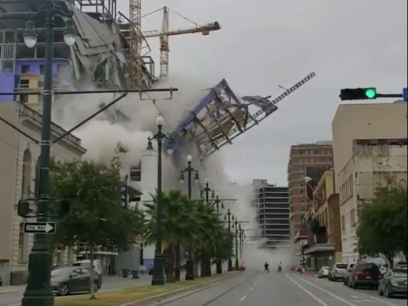 美18層高飯店坍塌驚險畫面曝光 釀1死18傷2受困