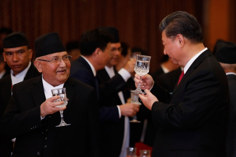 習近平會尼泊爾總理 重提反外國勢力分裂中國舊調