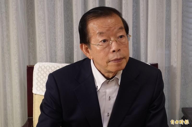駐日代表謝長廷7日應媒體要求說明與謝維洲終止收養關係一事。(資料照,記者林翠儀攝)