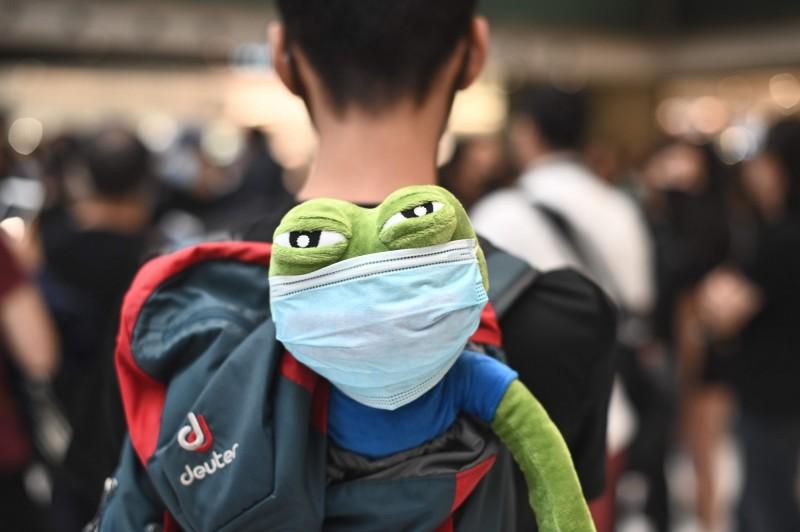 香港人反抗》林鄭賣港、港警發瘋 11歲男童帶布偶上街抗議